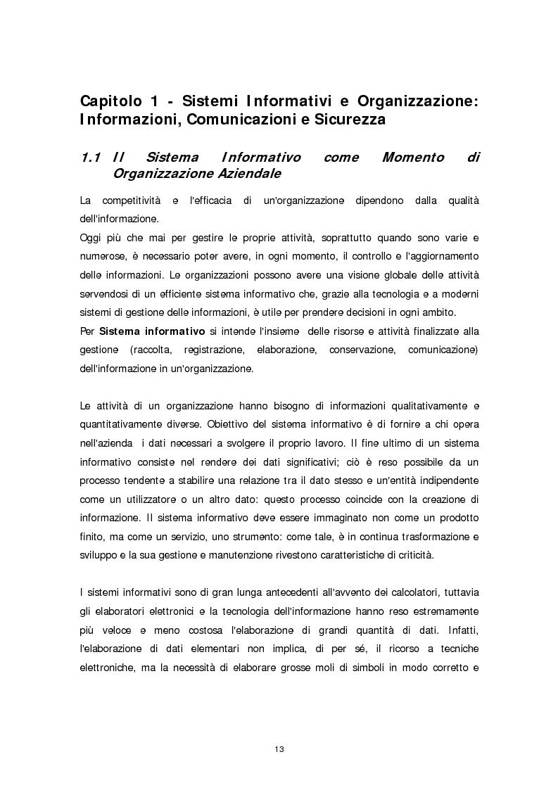 Anteprima della tesi: Il ruolo della firma digitale e delle tecnologie di sicurezza informatica nella ridefinizione dei processi aziendali, Pagina 5