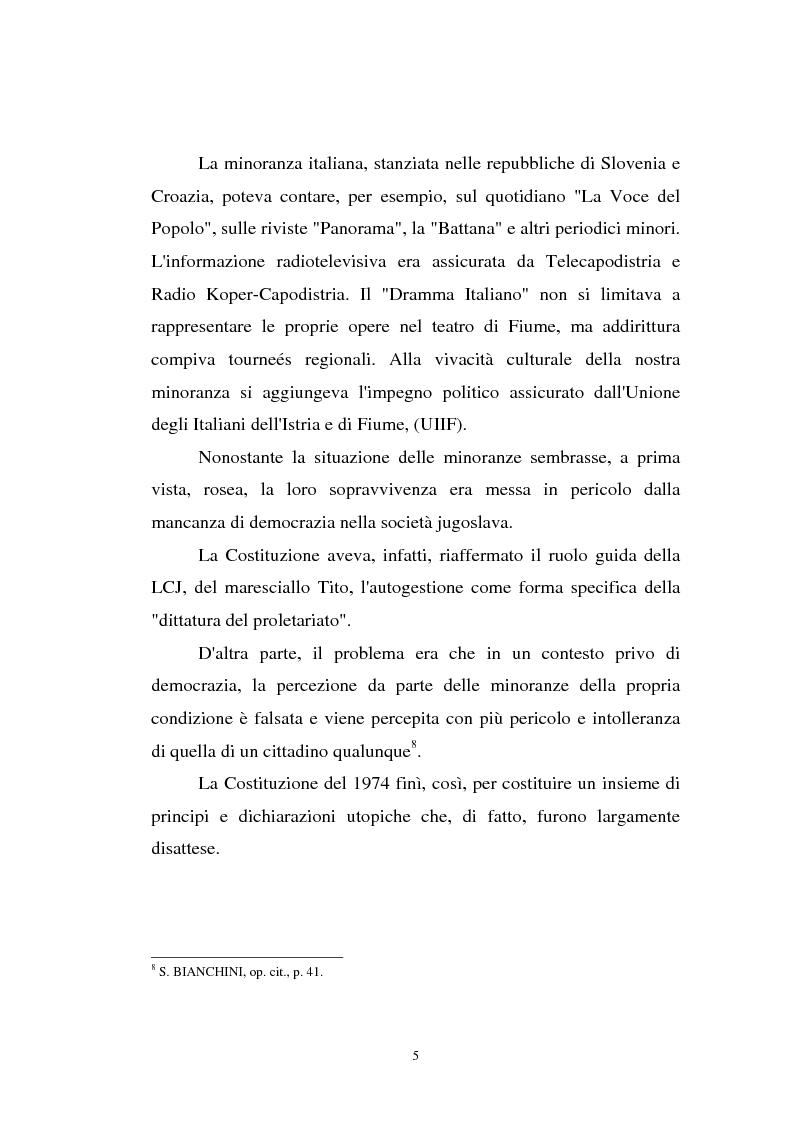 Anteprima della tesi: L'Istria e la minoranza italiana nella crisi jugoslava, Pagina 10