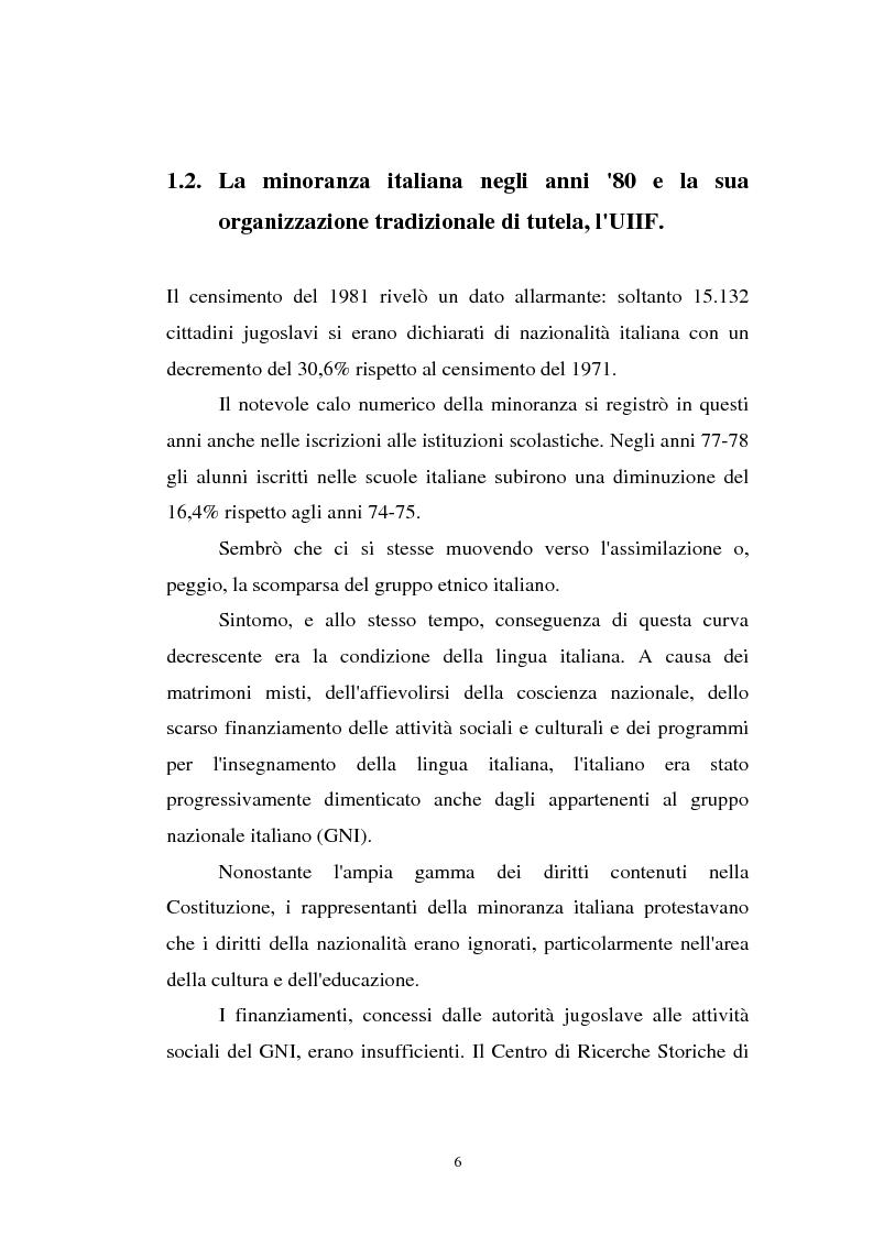 Anteprima della tesi: L'Istria e la minoranza italiana nella crisi jugoslava, Pagina 11
