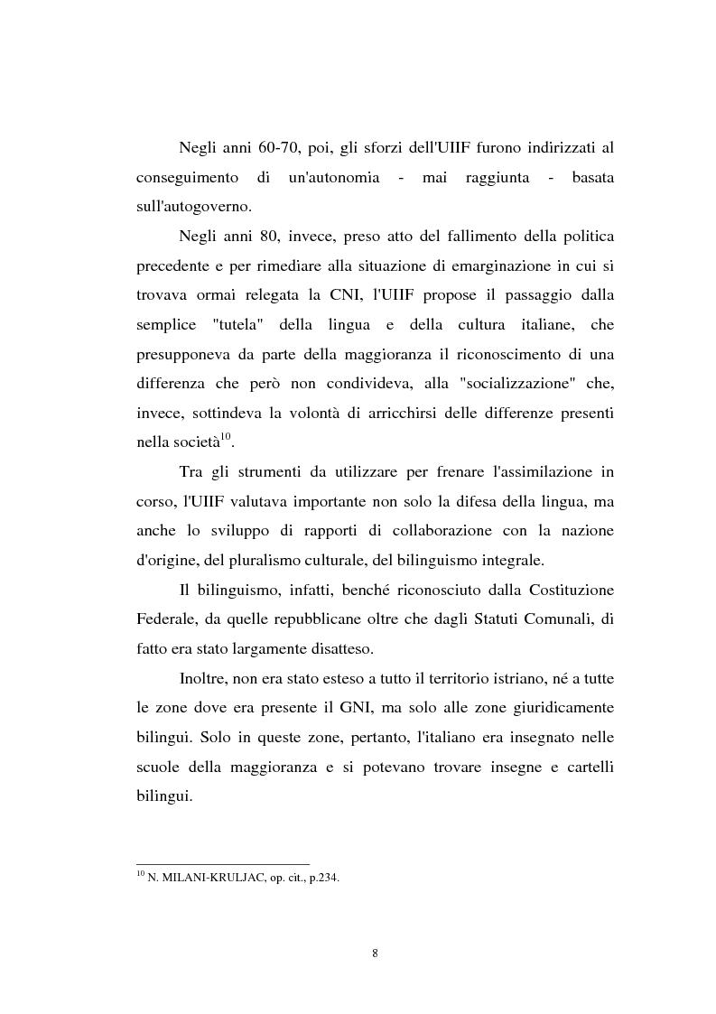 Anteprima della tesi: L'Istria e la minoranza italiana nella crisi jugoslava, Pagina 13