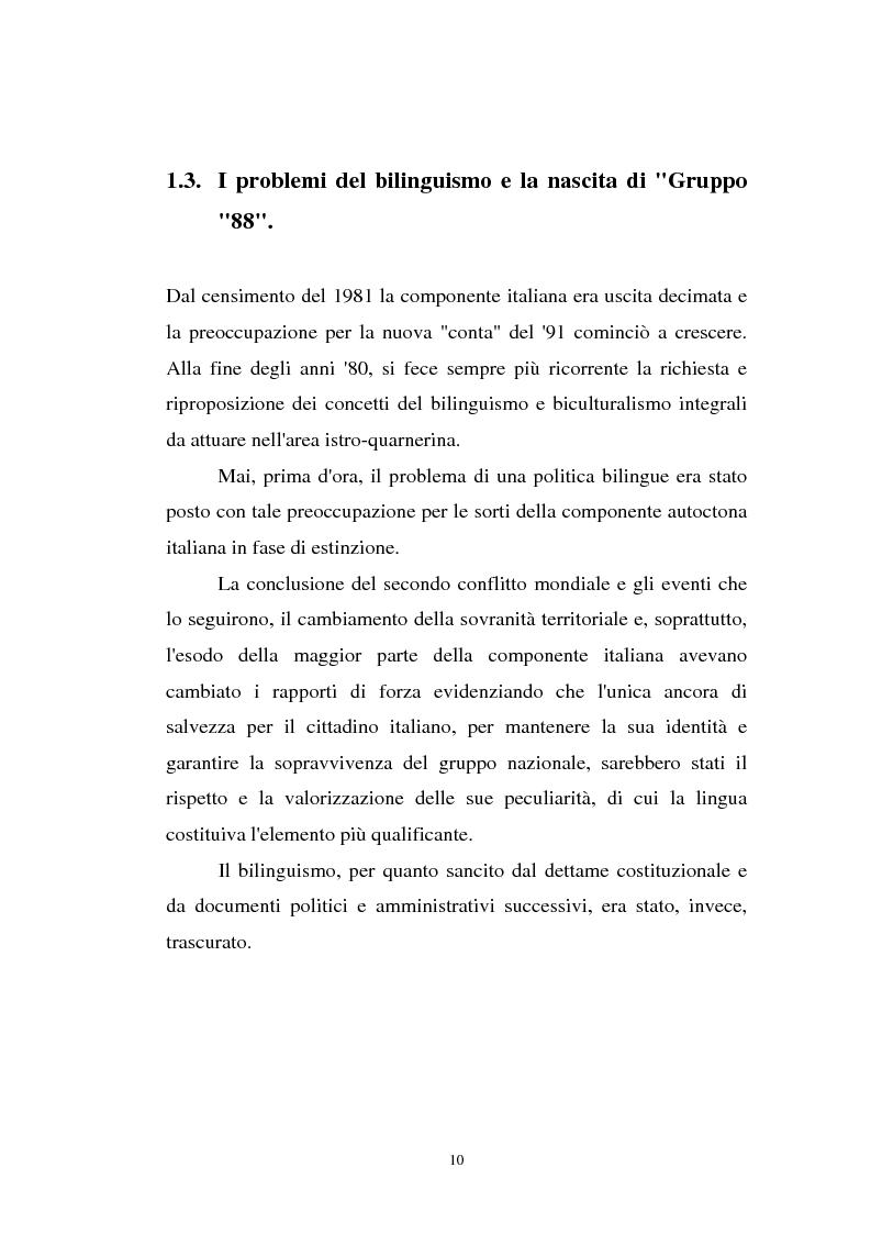 Anteprima della tesi: L'Istria e la minoranza italiana nella crisi jugoslava, Pagina 15