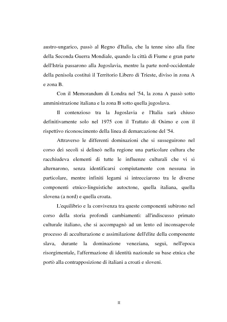 Anteprima della tesi: L'Istria e la minoranza italiana nella crisi jugoslava, Pagina 2