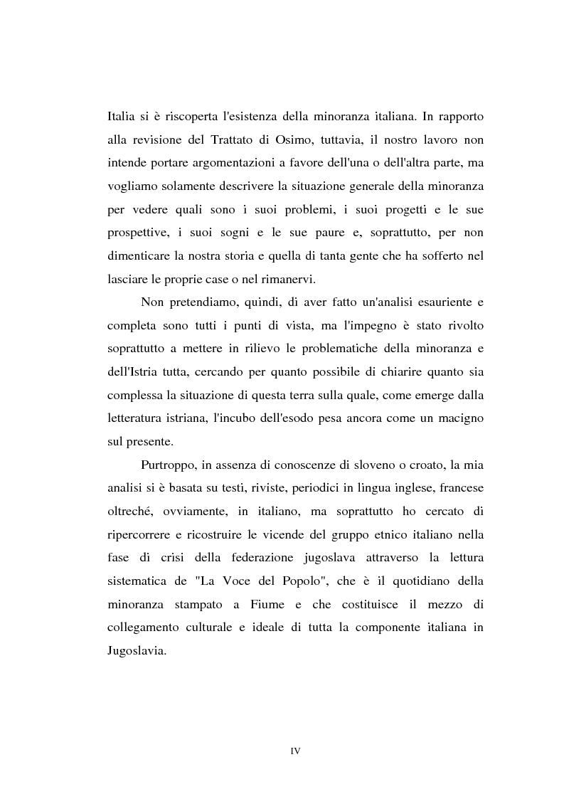 Anteprima della tesi: L'Istria e la minoranza italiana nella crisi jugoslava, Pagina 4