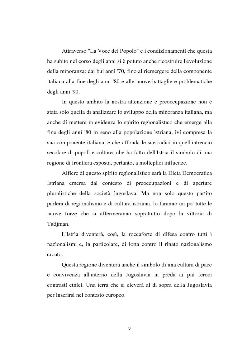 Anteprima della tesi: L'Istria e la minoranza italiana nella crisi jugoslava, Pagina 5