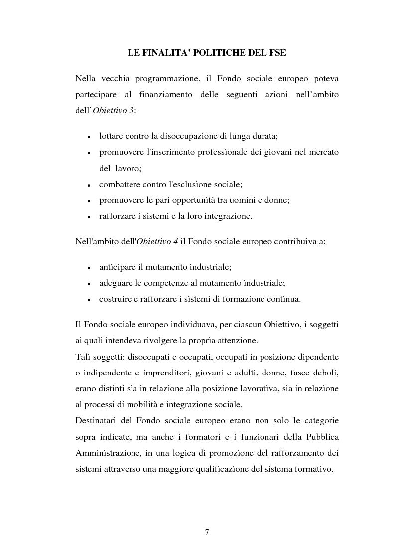 Anteprima della tesi: La valutazione delle politiche del Fondo Sociale Europeo, Pagina 10