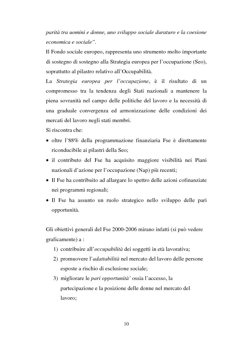 Anteprima della tesi: La valutazione delle politiche del Fondo Sociale Europeo, Pagina 13