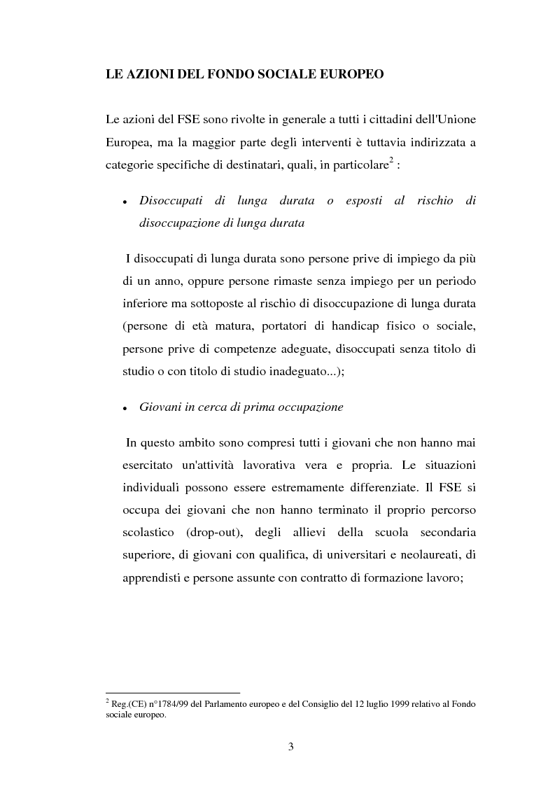 Anteprima della tesi: La valutazione delle politiche del Fondo Sociale Europeo, Pagina 6