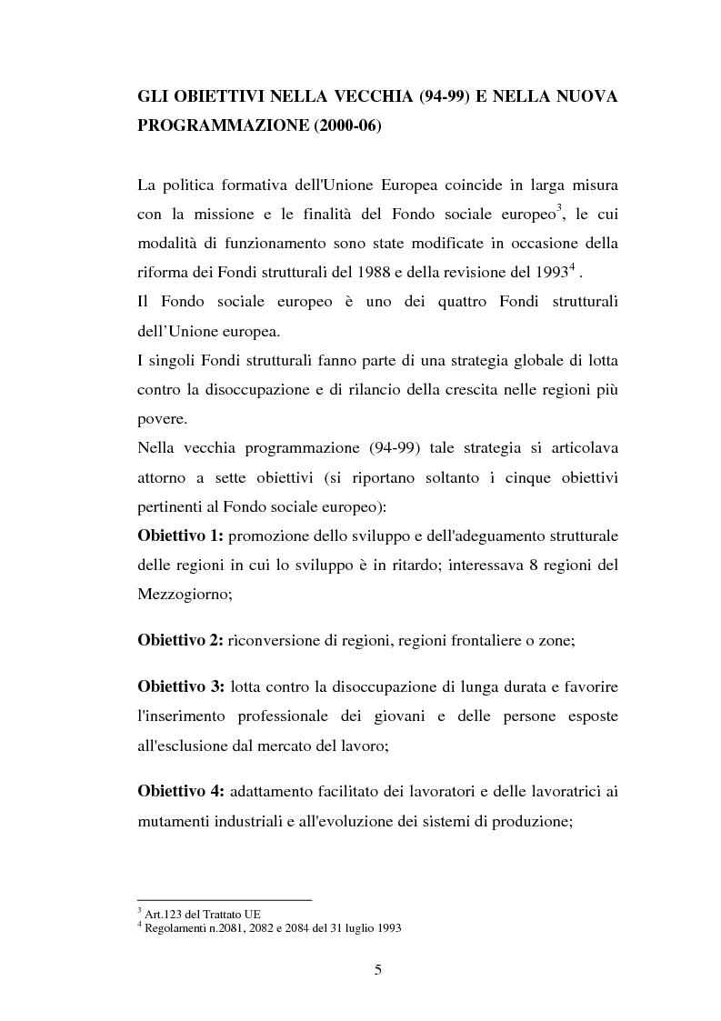 Anteprima della tesi: La valutazione delle politiche del Fondo Sociale Europeo, Pagina 8