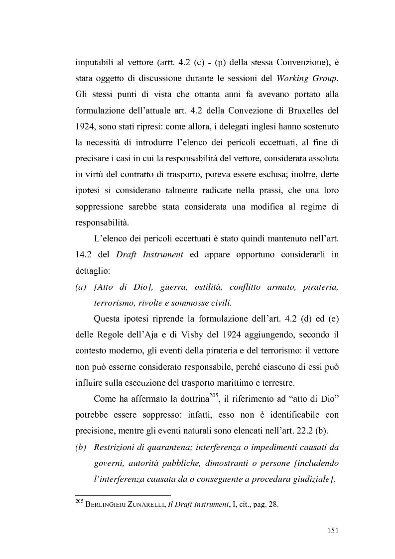 Anteprima della tesi: Dal trasporto marittimo al trasporto multimodale: la necessità di una nuova disciplina della responsabilità del vettore di cose, Pagina 3