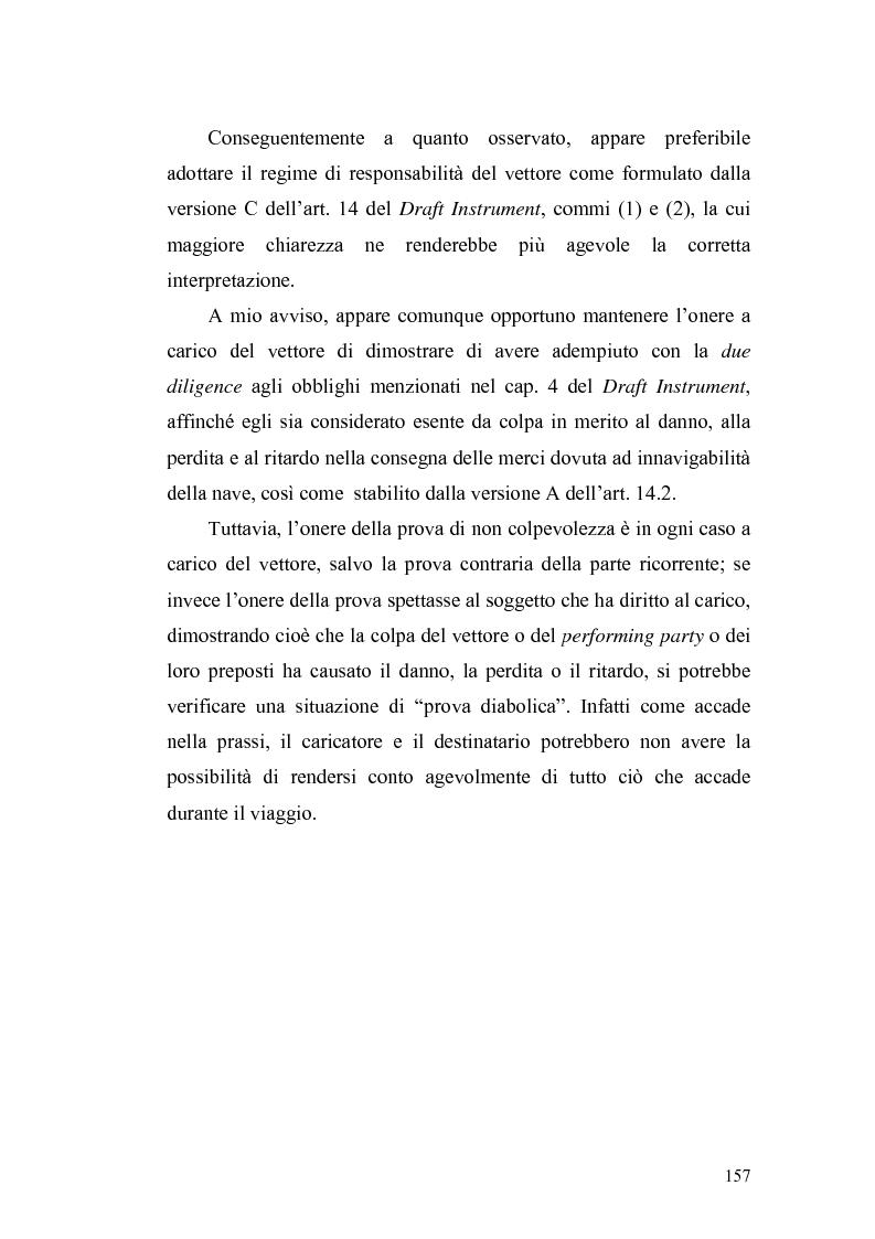 Anteprima della tesi: Dal trasporto marittimo al trasporto multimodale: la necessità di una nuova disciplina della responsabilità del vettore di cose, Pagina 9