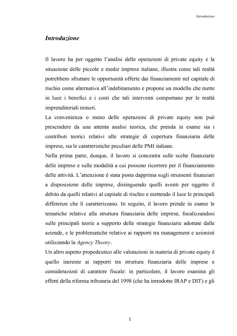 Anteprima della tesi: Opportunità di crescita delle Pmi e private equity, Pagina 1