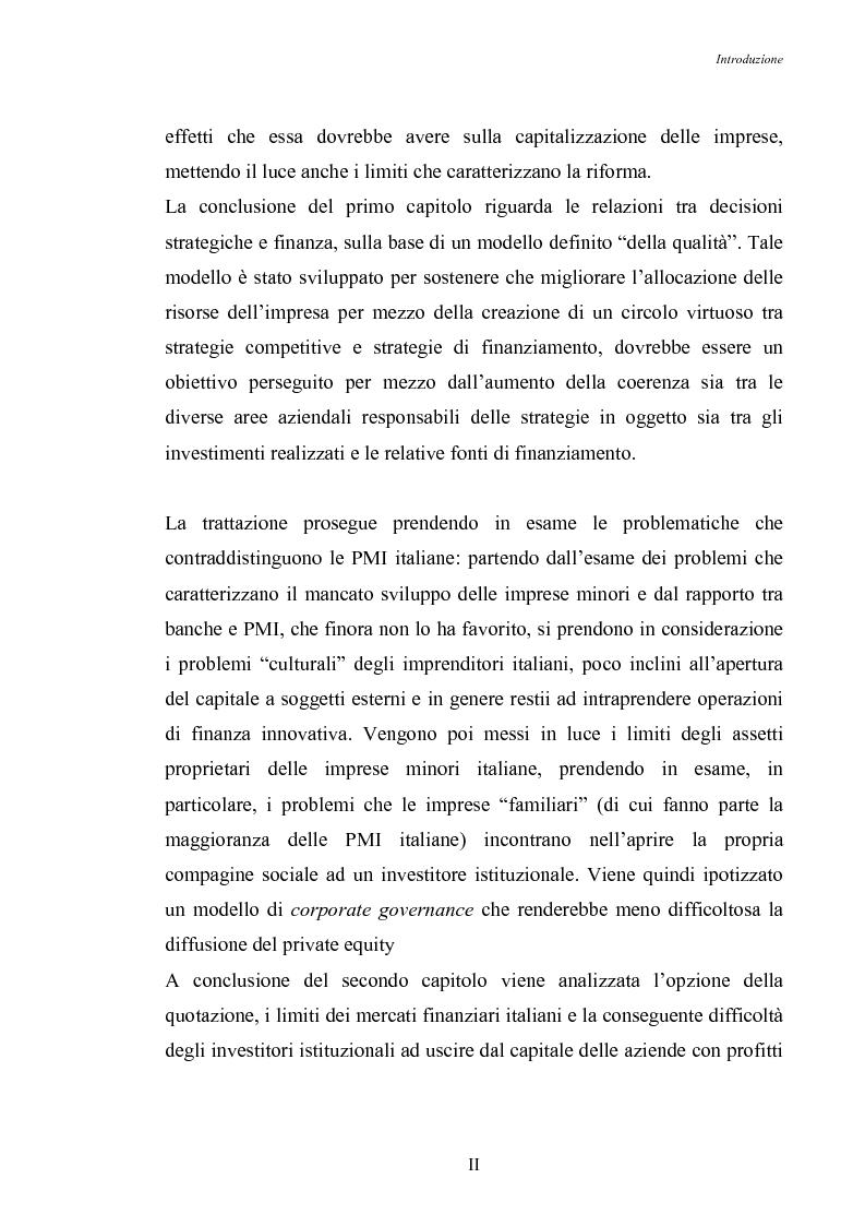 Anteprima della tesi: Opportunità di crescita delle Pmi e private equity, Pagina 2