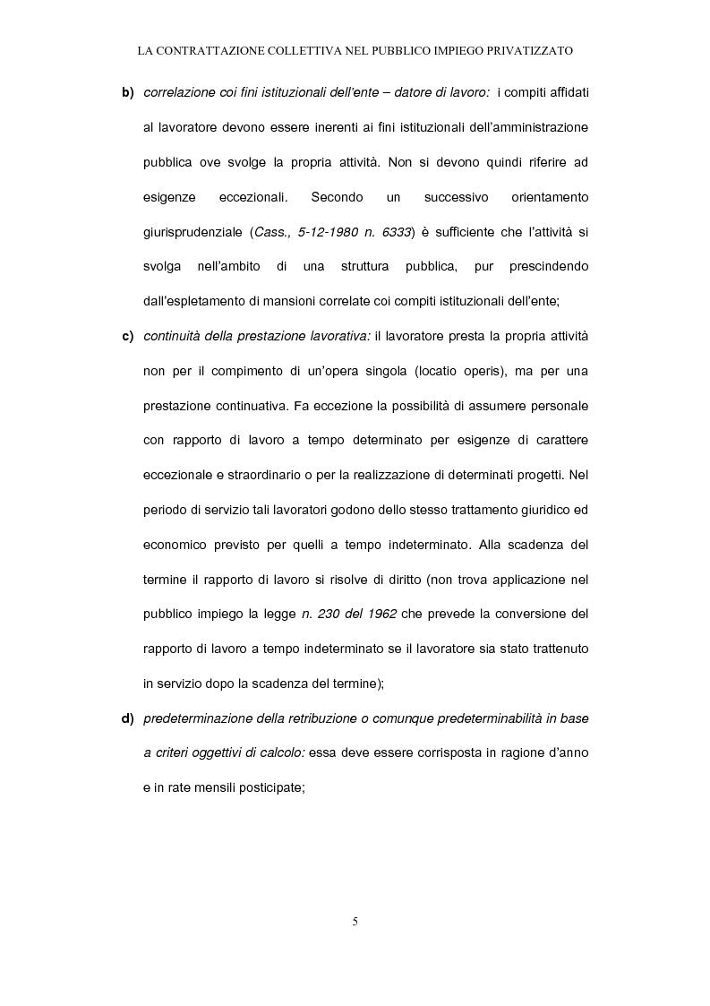 Anteprima della tesi: Il rapporto di pubblico impiego dopo la privatizzazione, Pagina 5