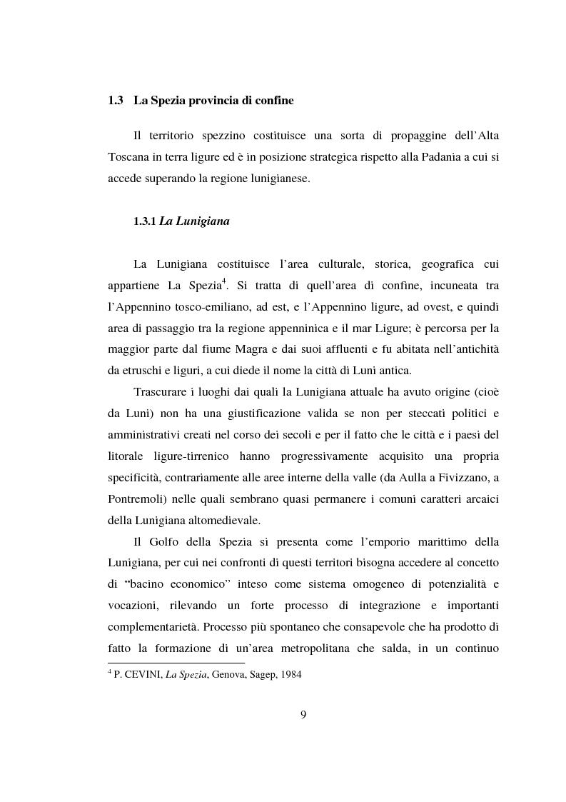 Anteprima della tesi: L'estensione urbana verso il mare: una nuova strategia per lo sviluppo turistico e commerciale della città della Spezia, Pagina 7