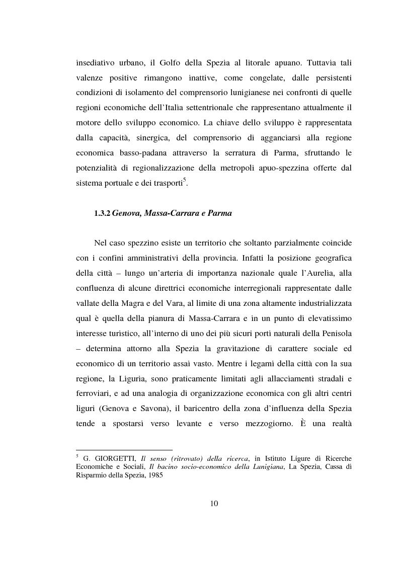 Anteprima della tesi: L'estensione urbana verso il mare: una nuova strategia per lo sviluppo turistico e commerciale della città della Spezia, Pagina 8