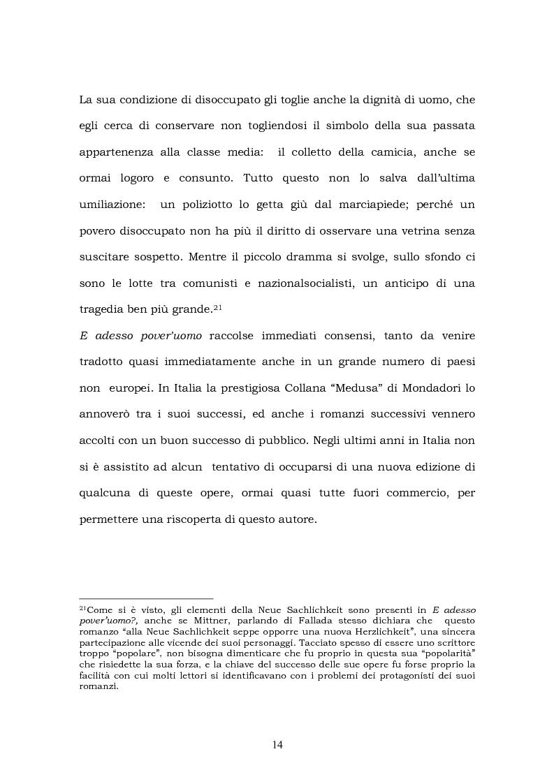 Anteprima della tesi: Hans Fallada e il suo ''Kleiner Mann, was nun?'' nel 2003. Una traduzione rivisitata, Pagina 12