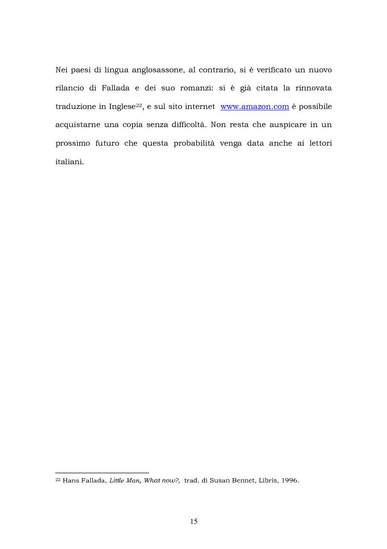 Anteprima della tesi: Hans Fallada e il suo ''Kleiner Mann, was nun?'' nel 2003. Una traduzione rivisitata, Pagina 13