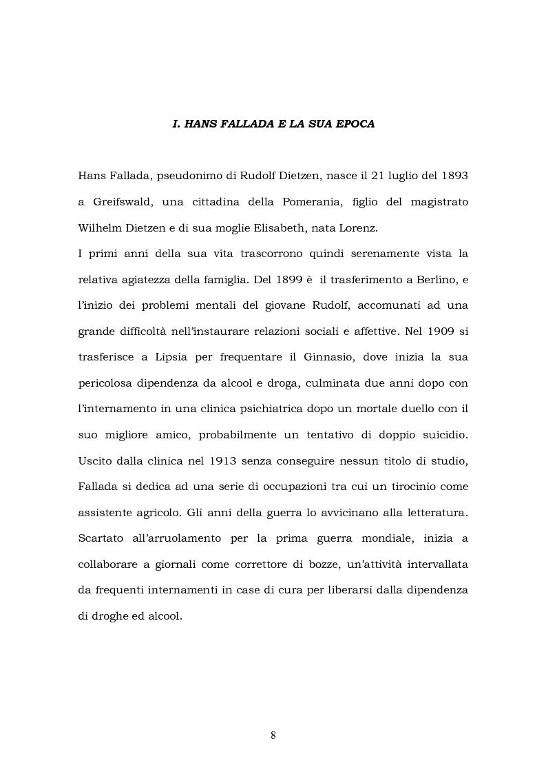 Anteprima della tesi: Hans Fallada e il suo ''Kleiner Mann, was nun?'' nel 2003. Una traduzione rivisitata, Pagina 6