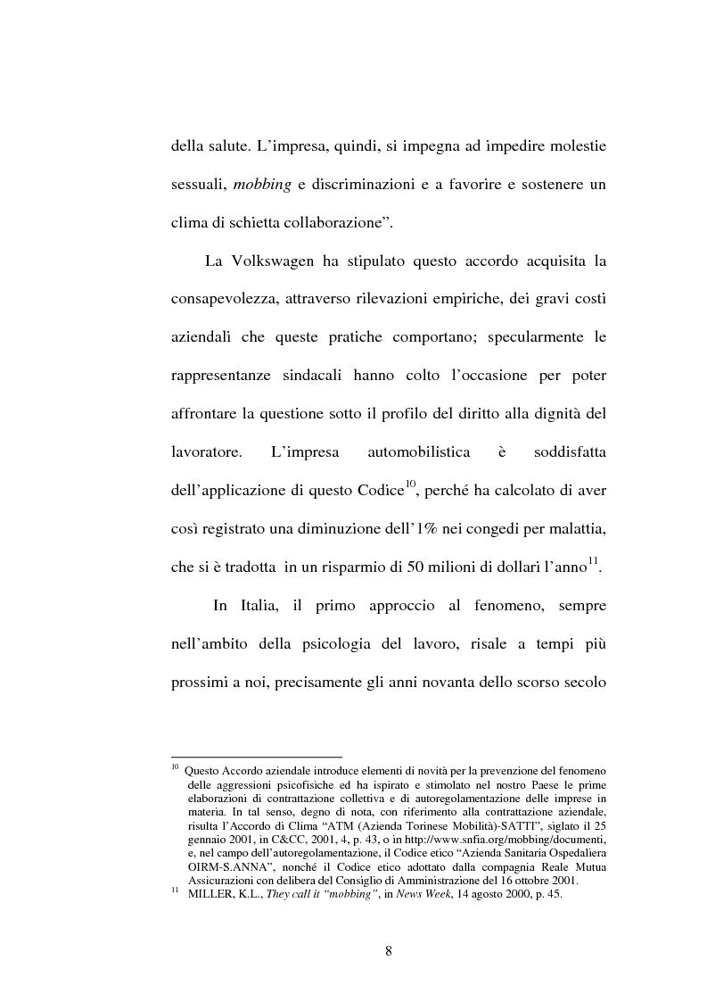 Anteprima della tesi: Lesioni da mobbing e responsabilità, Pagina 12