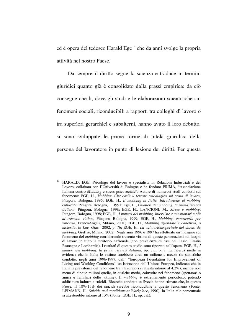 Anteprima della tesi: Lesioni da mobbing e responsabilità, Pagina 13