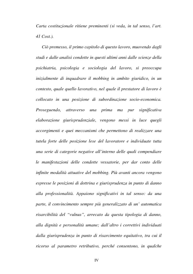 Anteprima della tesi: Lesioni da mobbing e responsabilità, Pagina 2
