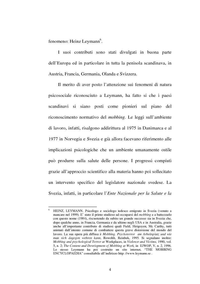 Anteprima della tesi: Lesioni da mobbing e responsabilità, Pagina 8