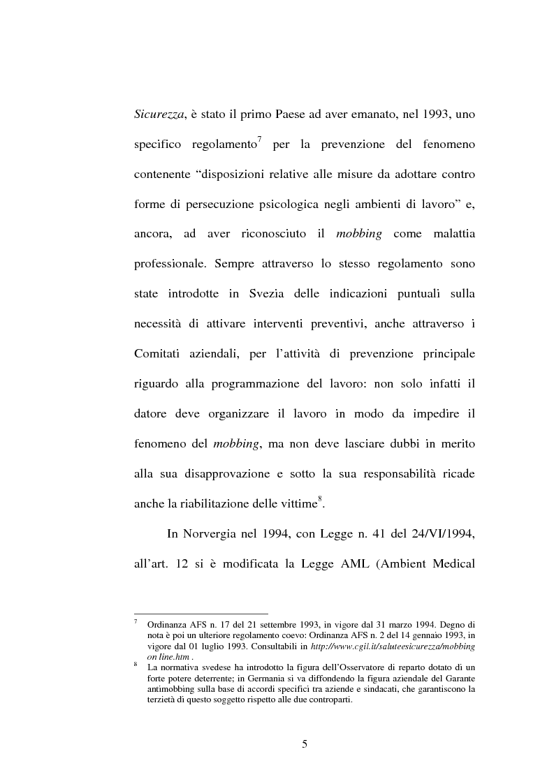 Anteprima della tesi: Lesioni da mobbing e responsabilità, Pagina 9