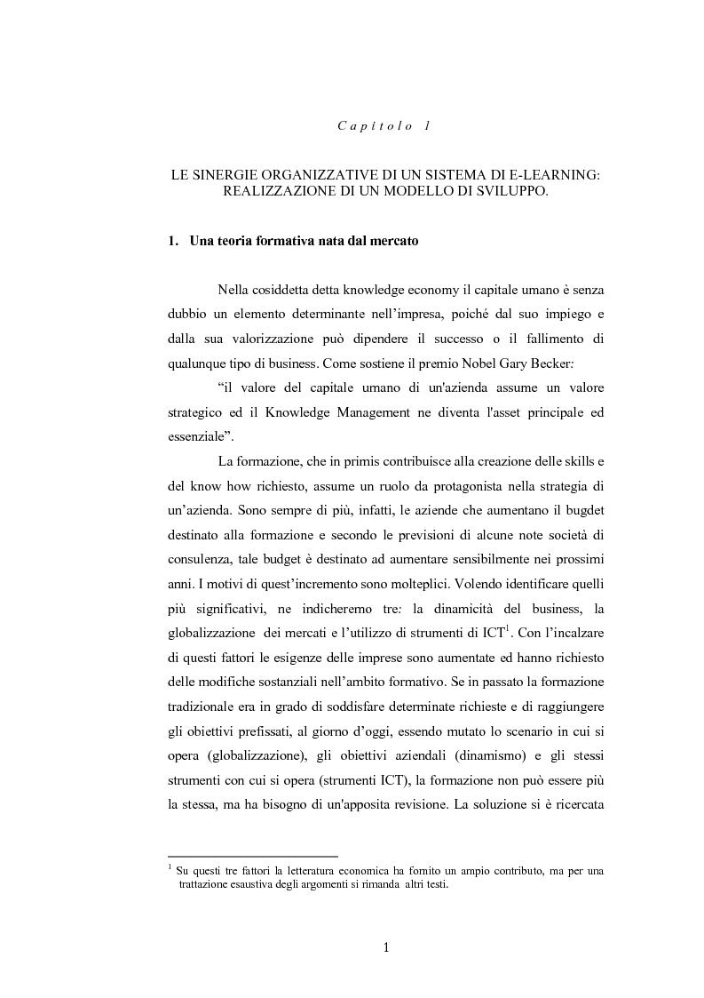 Anteprima della tesi: Analisi economico gestionale di un sistema di e-learning: modelli simulativi, Pagina 1