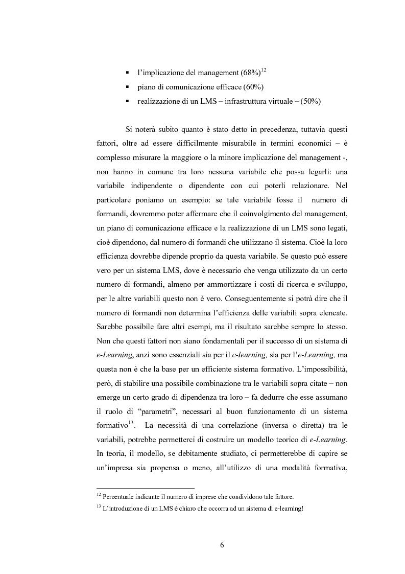Anteprima della tesi: Analisi economico gestionale di un sistema di e-learning: modelli simulativi, Pagina 6