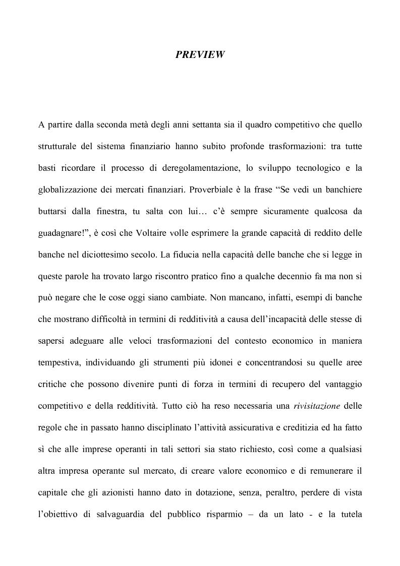 Anteprima della tesi: Profili critici della patrimonializzazione degli intermediari assicurativi e creditizi, Pagina 1