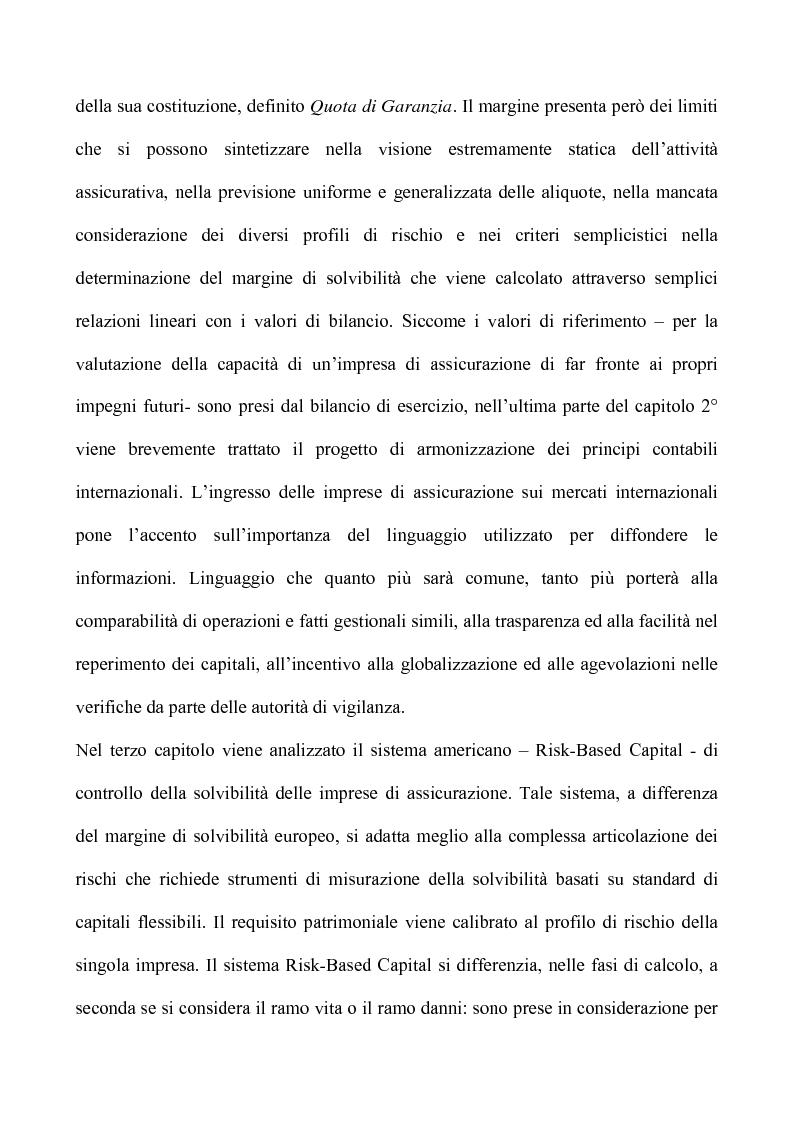 Anteprima della tesi: Profili critici della patrimonializzazione degli intermediari assicurativi e creditizi, Pagina 5