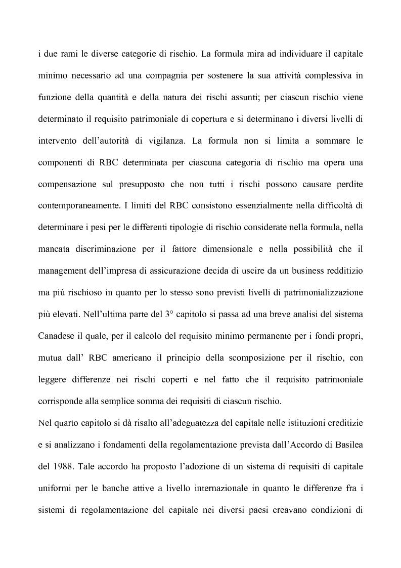 Anteprima della tesi: Profili critici della patrimonializzazione degli intermediari assicurativi e creditizi, Pagina 6