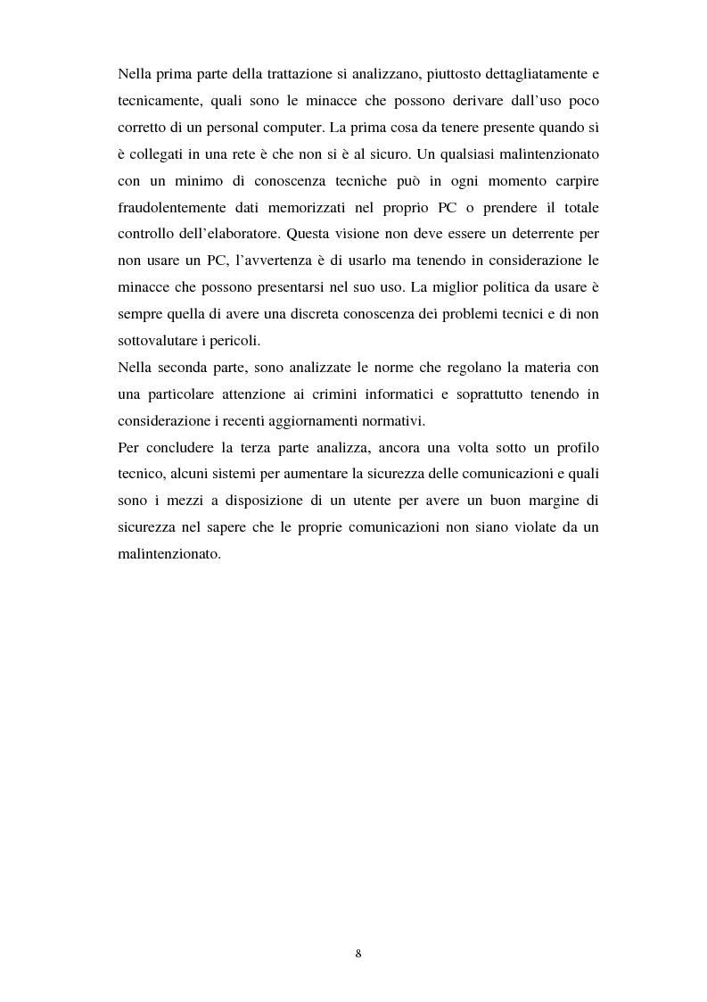 Anteprima della tesi: Aspetti tecnici e giuridici della sicurezza informatica, Pagina 2