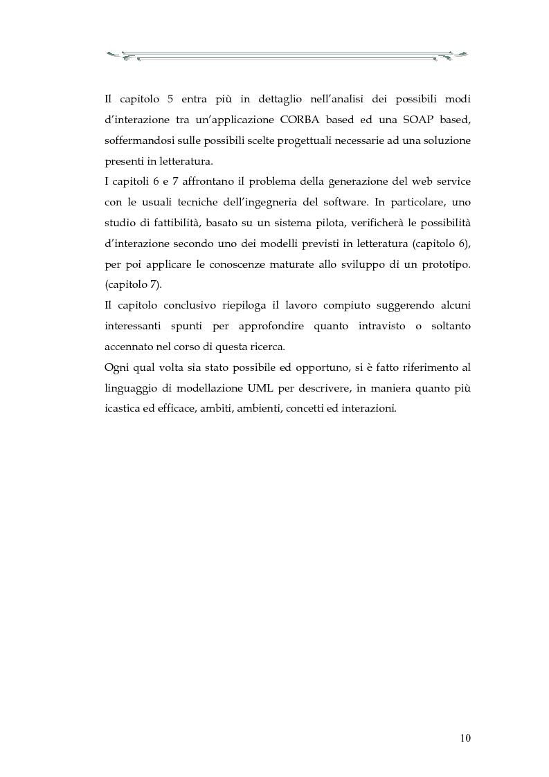 Anteprima della tesi: Interazione tra applicazioni multiorb e web services: sviluppo di un componente web based del modello Anthill per un'applicazione Gps, Pagina 5