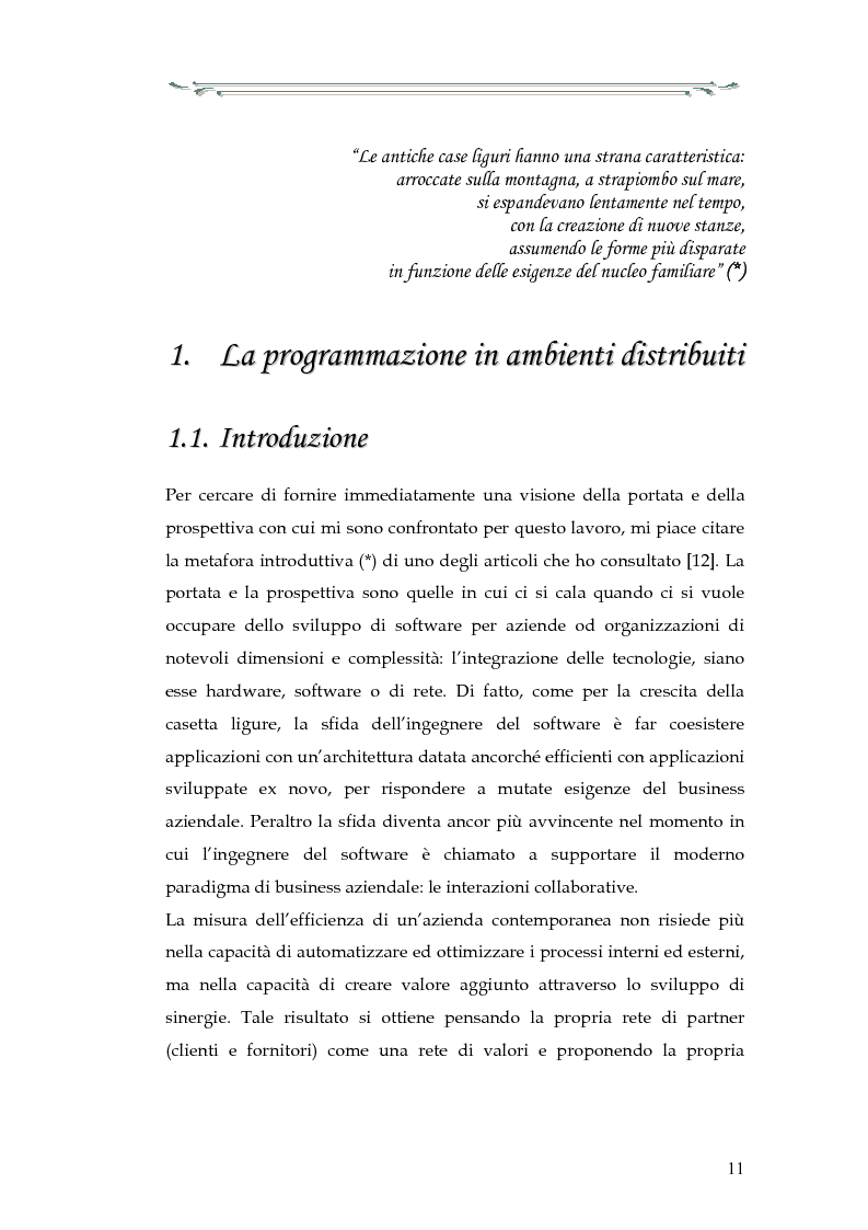 Anteprima della tesi: Interazione tra applicazioni multiorb e web services: sviluppo di un componente web based del modello Anthill per un'applicazione Gps, Pagina 6
