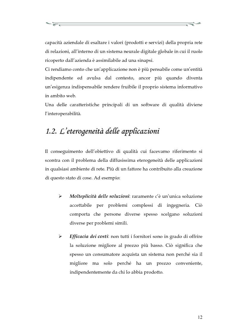 Anteprima della tesi: Interazione tra applicazioni multiorb e web services: sviluppo di un componente web based del modello Anthill per un'applicazione Gps, Pagina 7