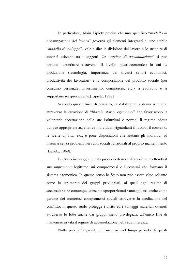 Anteprima della tesi: Politiche del lavoro e dimensione locale, Pagina 10