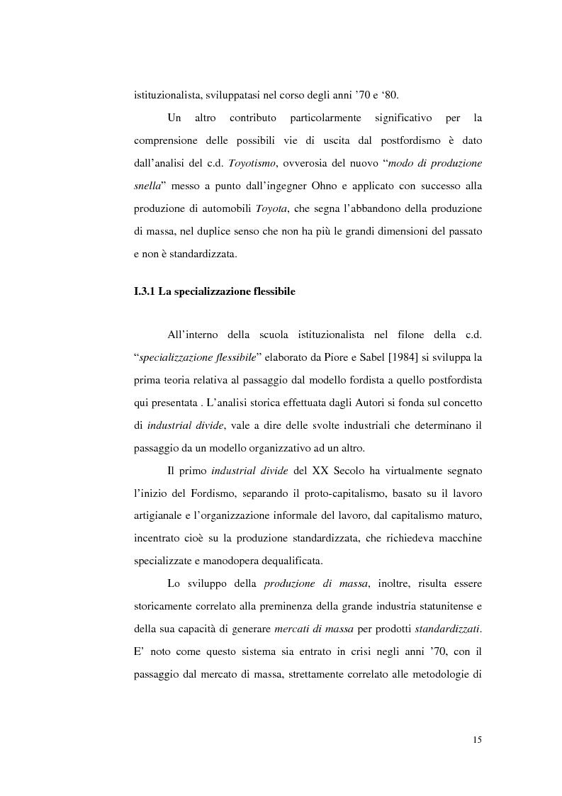 Anteprima della tesi: Politiche del lavoro e dimensione locale, Pagina 15
