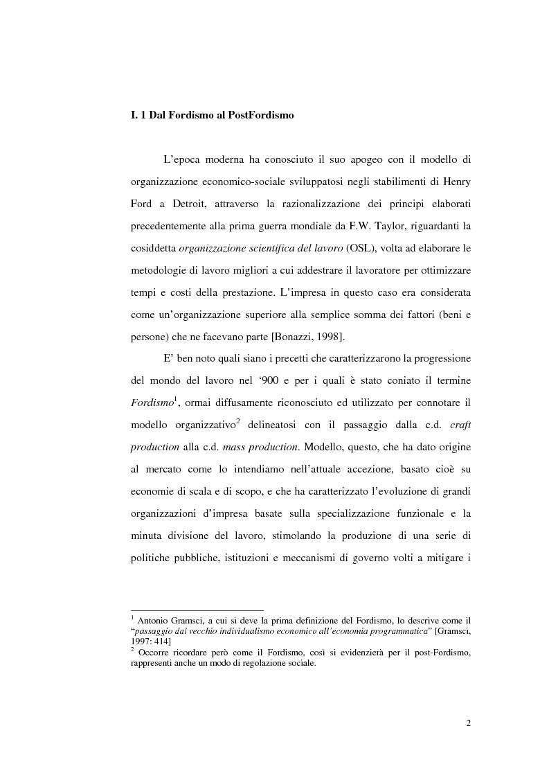 Anteprima della tesi: Politiche del lavoro e dimensione locale, Pagina 2