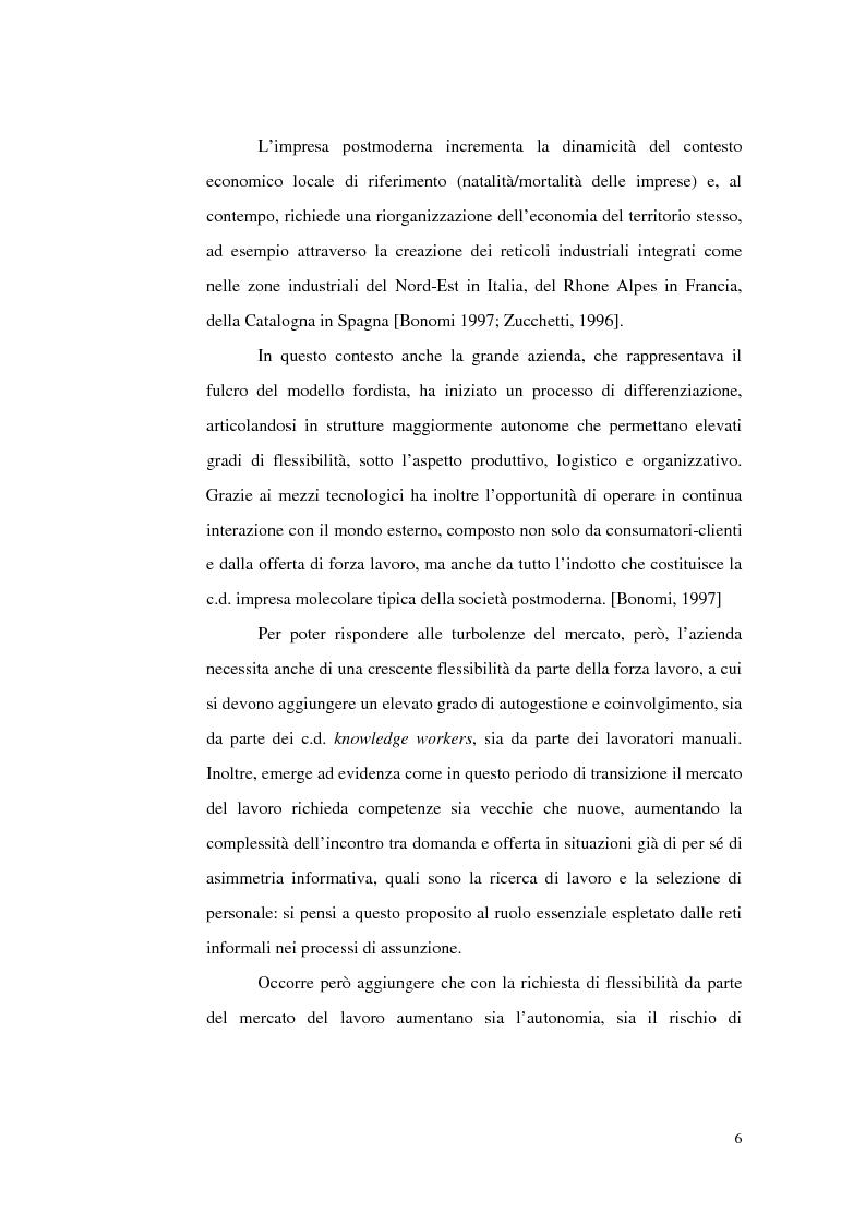 Anteprima della tesi: Politiche del lavoro e dimensione locale, Pagina 6