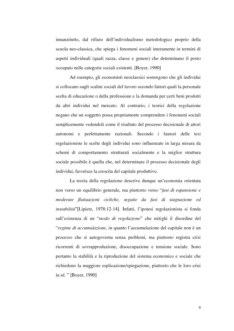 Anteprima della tesi: Politiche del lavoro e dimensione locale, Pagina 9