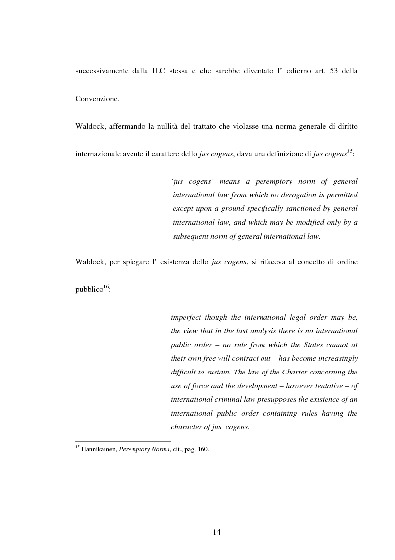 Anteprima della tesi: Trattati contrari a norme di jus cogens, Pagina 11