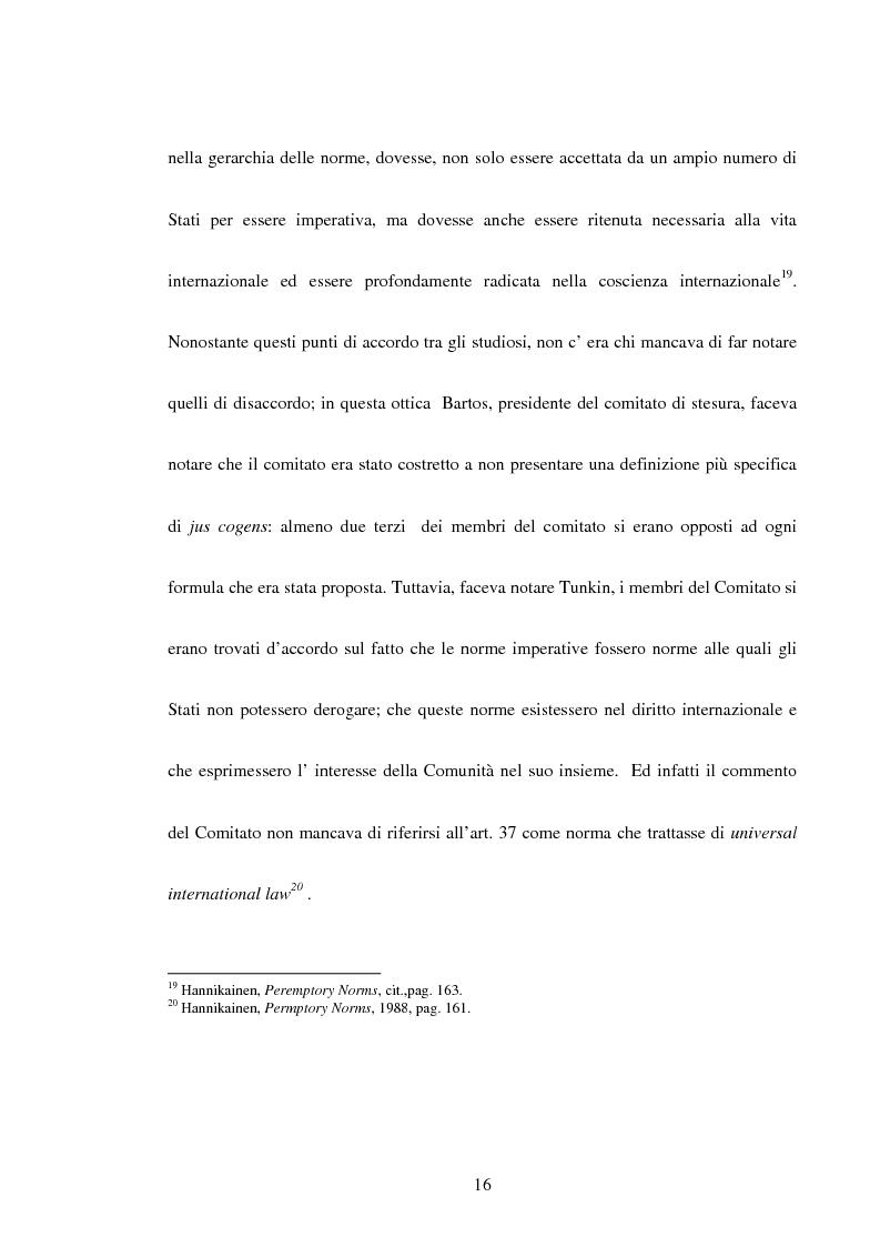 Anteprima della tesi: Trattati contrari a norme di jus cogens, Pagina 13