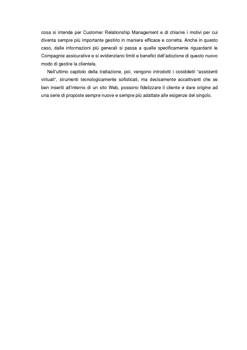 Anteprima della tesi: L'information technology nelle compagnie di assicurazione: programmazione di un consulente virtuale, Pagina 2