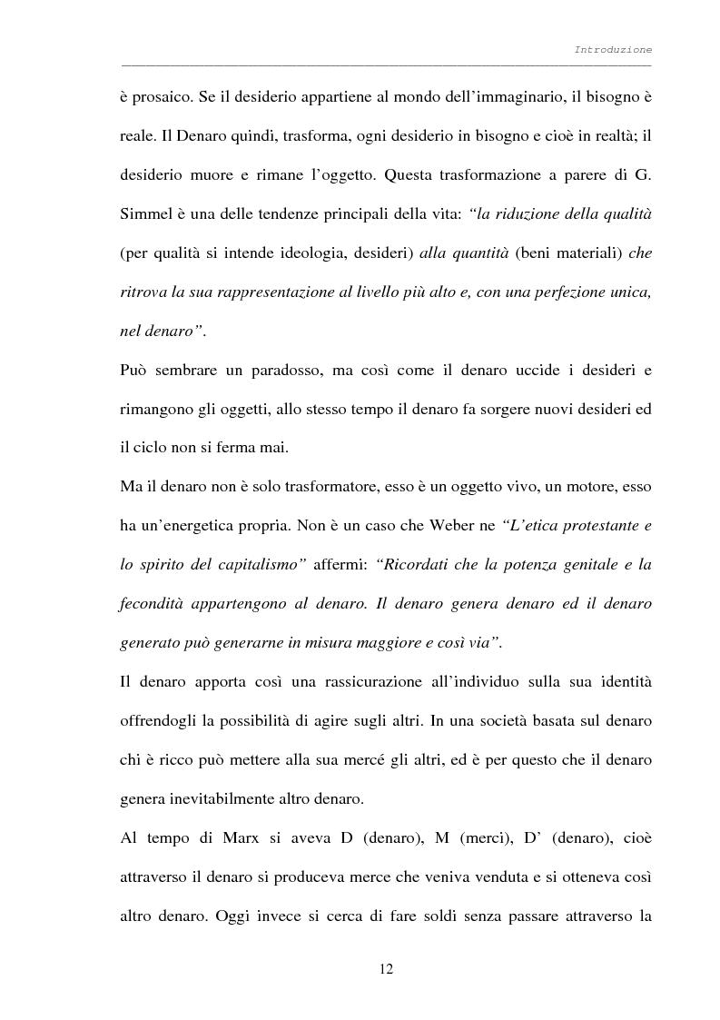 Anteprima della tesi: Processo al denaro: storia e attualità di un mezzo divenuto fine, Pagina 11