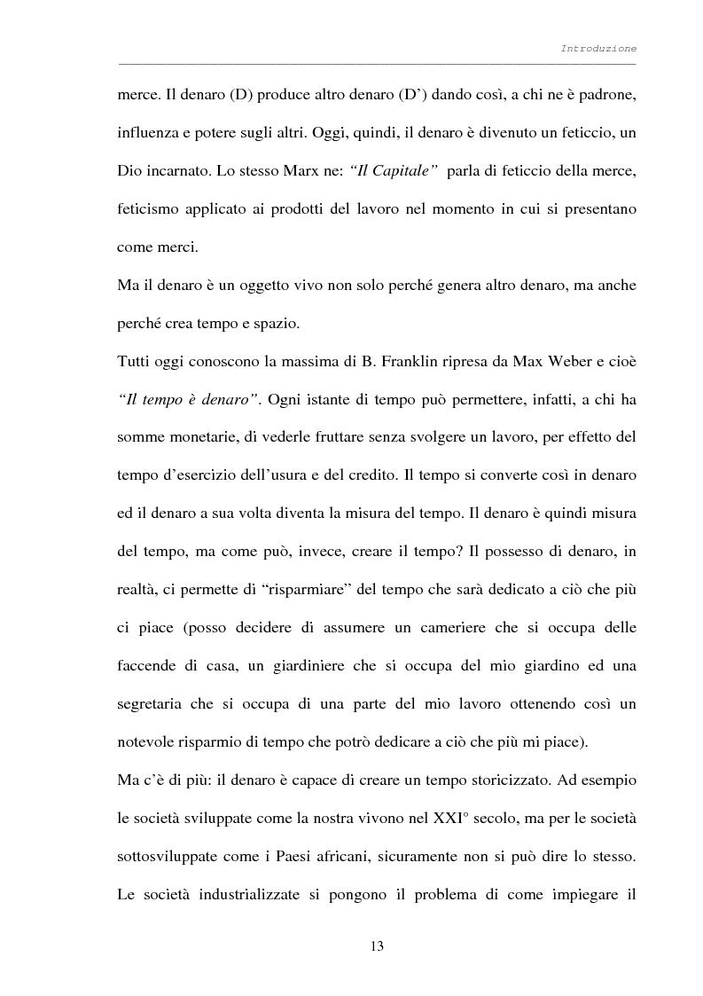 Anteprima della tesi: Processo al denaro: storia e attualità di un mezzo divenuto fine, Pagina 12