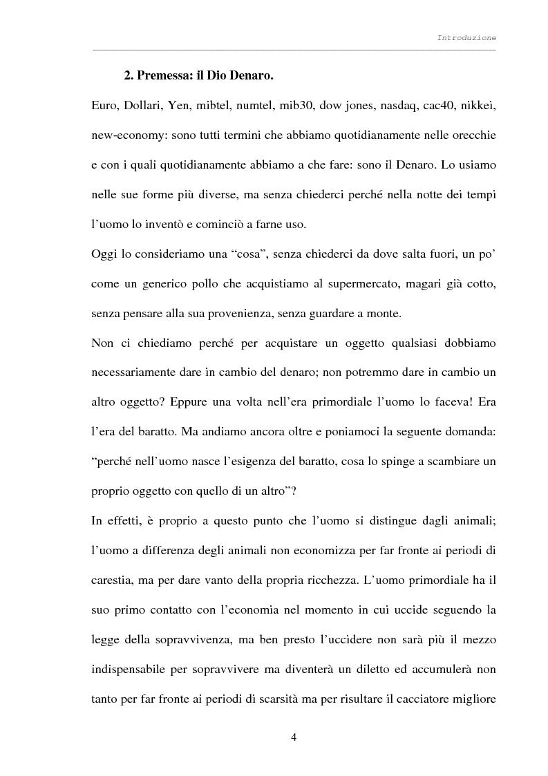 Anteprima della tesi: Processo al denaro: storia e attualità di un mezzo divenuto fine, Pagina 3