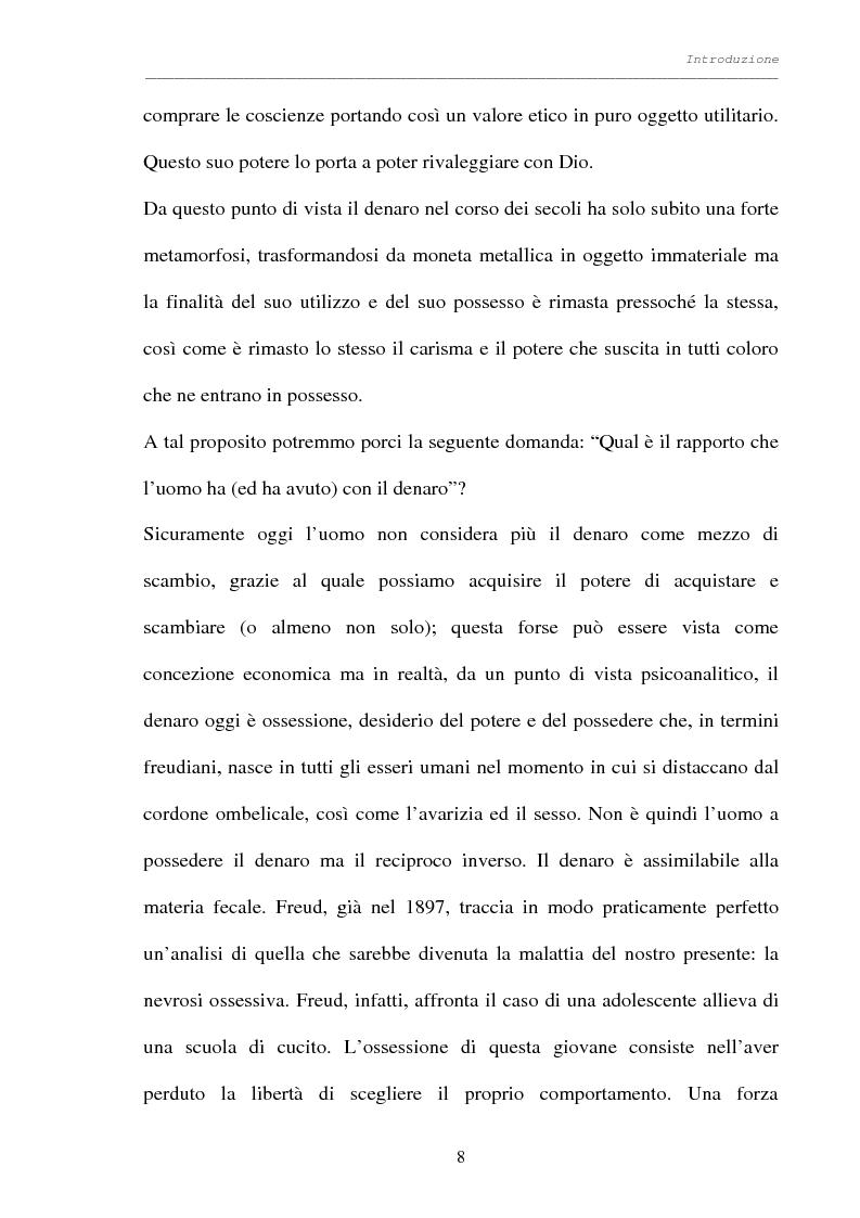 Anteprima della tesi: Processo al denaro: storia e attualità di un mezzo divenuto fine, Pagina 7