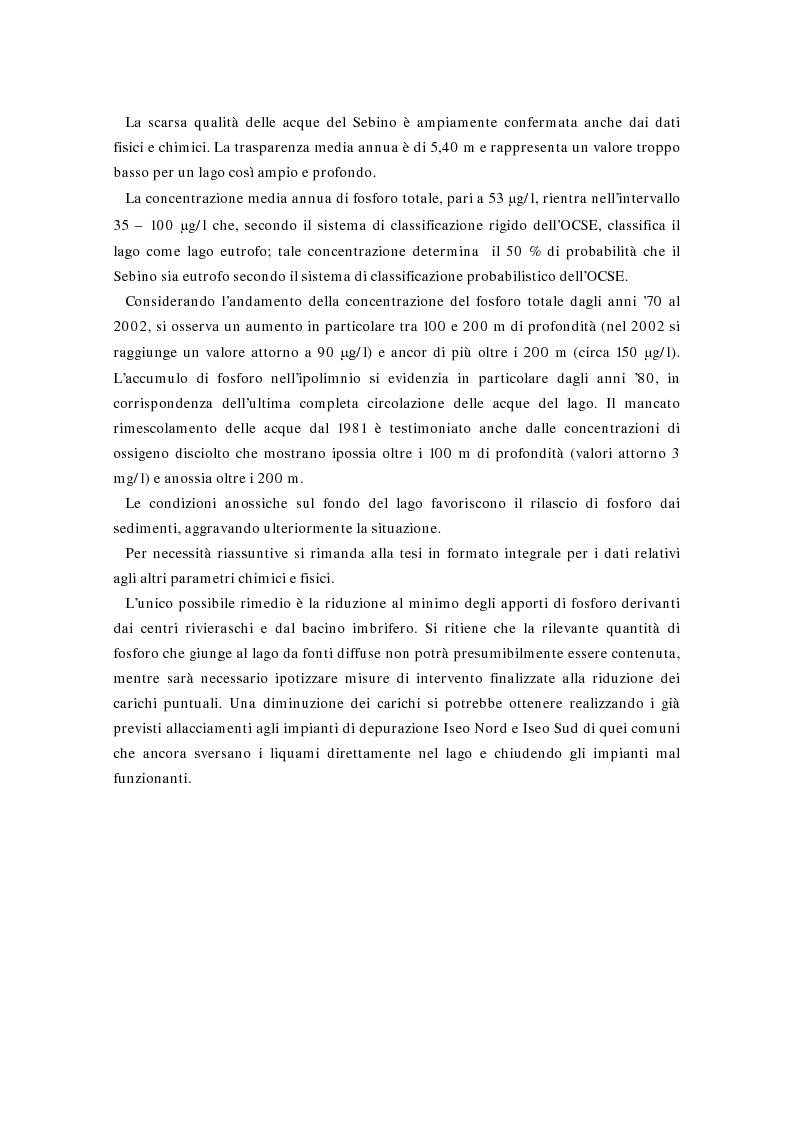 Anteprima della tesi: Valutazione della comunità fitoplanctonica di un grande lago subalpino, il lago d'Iseo, Pagina 4