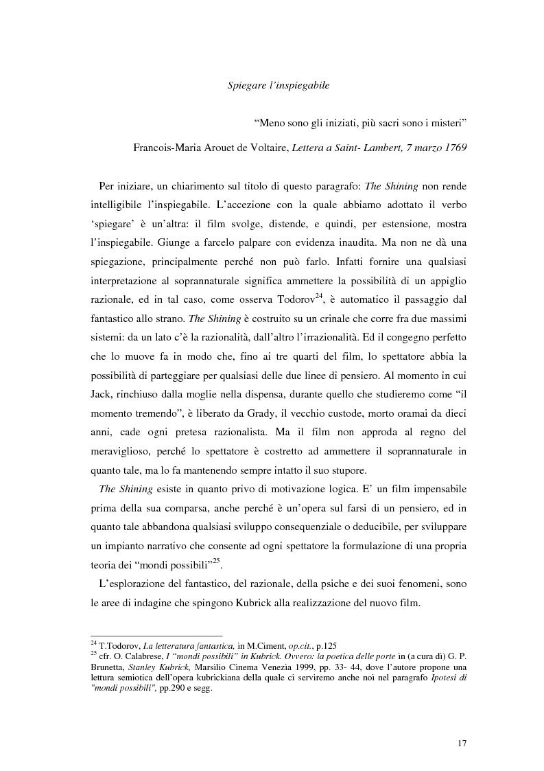 Anteprima della tesi: The Shining e la sua organizzazione spazio-temporale, Pagina 13